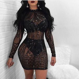 Sequin dress BLACK BRAND NEW
