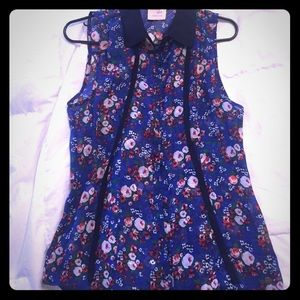 Tommy Girl Blue Floral Tank