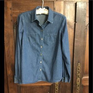 The Limited Blue Jean Buttoned-Down Shirt
