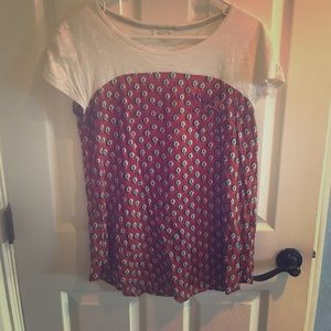 Anthropologie small meadow rue top.  Longer style