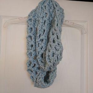 Light blue infinity scarf
