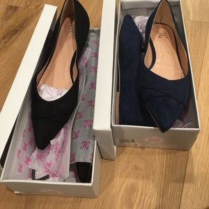 Black and navy flats size 9 brand new