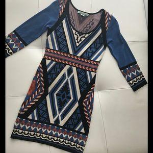 Multicolor long sleeve dress