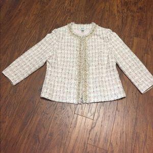 Neiman Marcus tweed jacket with embellishments