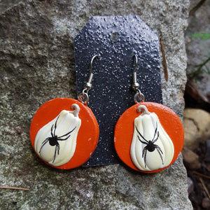 Halloween Earrings Pumpkin Earrings Spider Earring
