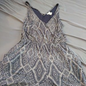 H&M beautiful navy and white romper