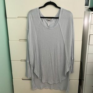 Light Blue Free People Thermal Sweater