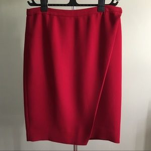 J.Crew Cranberry Crepe Wrap Skirt