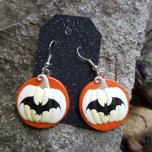Halloween Bat Earrings Handmade Earrings Bats
