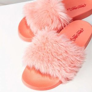 7a8b2d590cc Jeffrey Campbell Shoes - Jeffrey Campbell Lucky Me Faux Fur Sandal