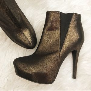 Rock & Republic Bronze Platform Stilleto Booties