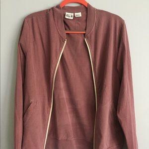 American Apparel Pink Zip Up Jacket