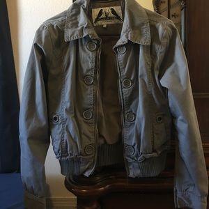 Jackets & Blazers - Button up gray jacket