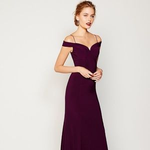 Adrianna Papell off shoulder mermaid gown