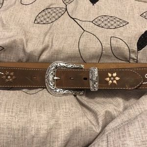 Accessories - Brown leather belt