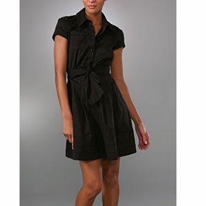 Navy DVF shirt dress