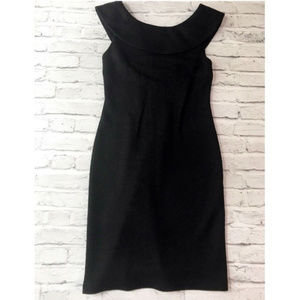 Banana Republic Black Overlay Scoop Neckline Dress