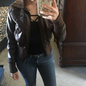 Jackets & Blazers - Brown bomber jacket
