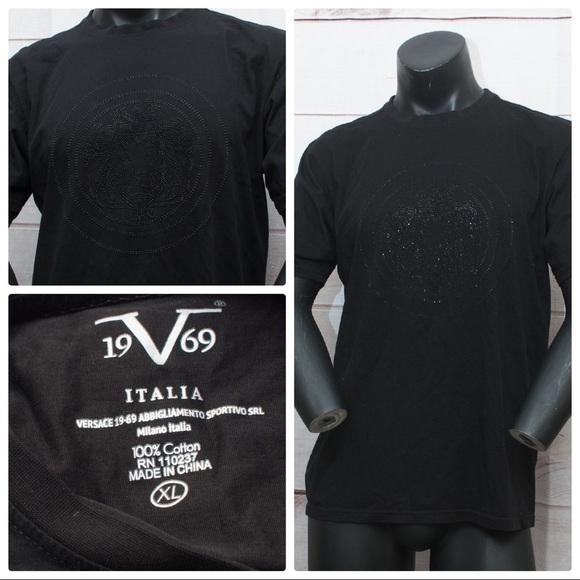 93a7a43f Versace 19V69 Men's XL Black Lion Head T-shirt. M_59ee1190680278d3e60d525c