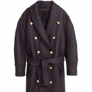Balmain x H&M Navy Blue Wool Coat