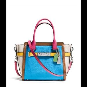 Coach Colorblock Swagger 21 Carryall Satchel