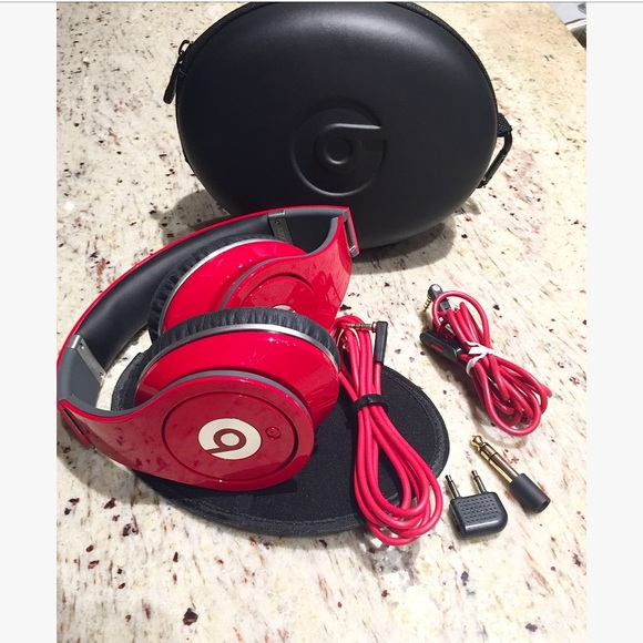 Beats By Dr Dre Other Beats By Dre Studio Red Wired Headphones Poshmark
