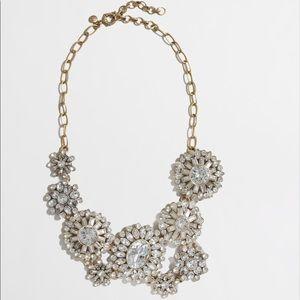 New J Crew Crystal Garden Sunburst Necklace