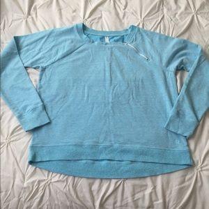 GAP fit Blue Long Sleeve Sweatshirt Zip Shoulder