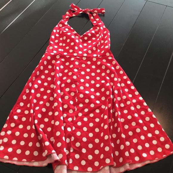 f28d450eff6 Dresses   Skirts - Red white polka dot Minnie Mouse dress sz Med