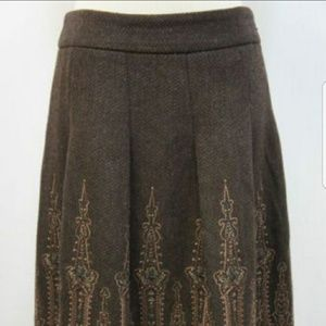 Ann Taylor Winter Midi Skirt