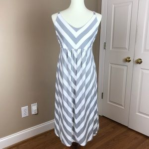 MATERNITY | Gray and White Striped Old Navy Dress