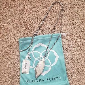 Kendra Scott dark silver milla necklace