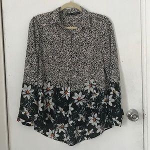 Zara flower shirt