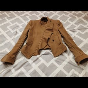 BCBG Max Azria Military style wool jacket