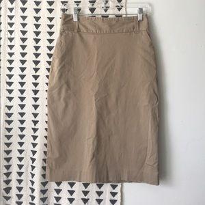 Banana Republic Khaki Pencil Skirt size 4