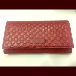 Gucci Red Leather Wallet