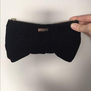 Never used Kate Spade black velvet clutch