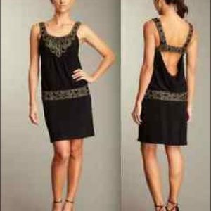 Sue Wong Flapper Style Beaded Drop Waist Dress 6