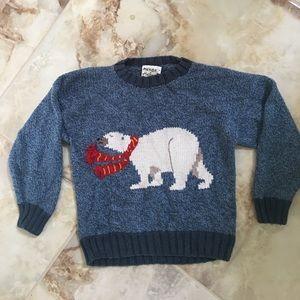 Other - Boys Hand knit polar bear sweater size 5