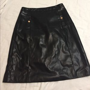 Liz Claiborne career faux leather skirt size 12