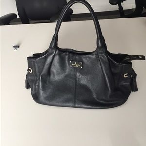Like- new black kate spade satchel bag