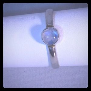 925 Sterling Silver Moonstone Solitaire Ring