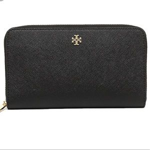 Tory Burch Robinson Saffiano Leather Wallet