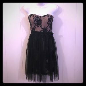 Dresses & Skirts - Formal strapless dress lace overlay