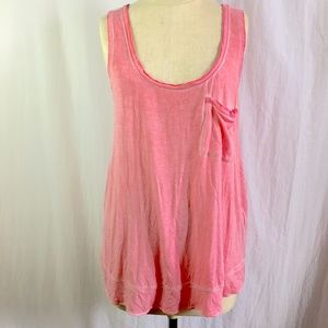 Anthro Pure+ Good Pink Burnout Mineral Wash Tank
