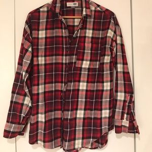 Cozy Old Navy boyfriend flannel shirt