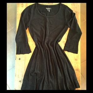 Ellen Tracy Black Sweater Dress with Bell Sleeves
