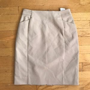 New H&M light tan beige pencil skirt