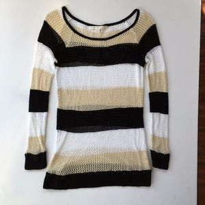 BOSTON PROPER open knit rayon sweater S
