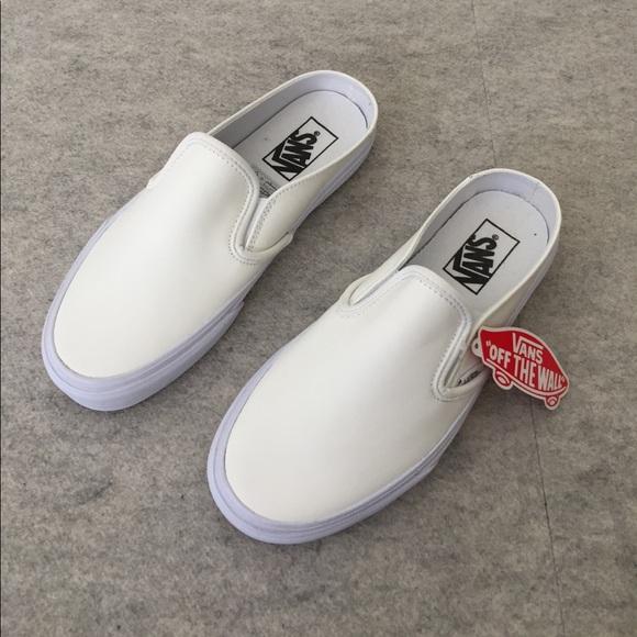 New Vans Classic Slipon Mule White